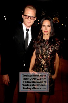 PAUL BETTANY,JENNIFER CONNELY at screening of ''Avengers:Age of Ultron'' at AVA Theatre w.23st 4-28-2015 John Barrett/Globe Photos 2015