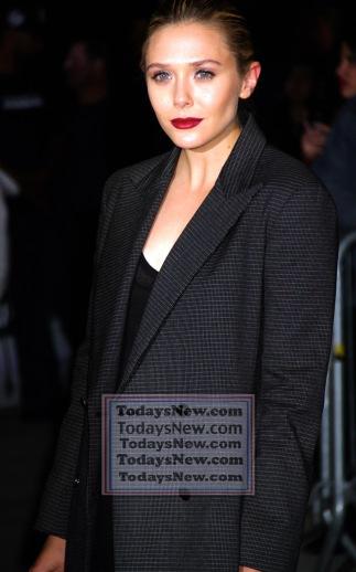 ELIZABETH OLSEN at screening of ''Avengers:Age of Ultron'' at AVA Theatre w.23st 4-28-2015 John Barrett/Globe Photos 2015