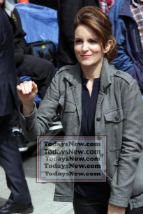 TINA FEY at ''Live with David Letterman Show'' Final show 5=20-2015 John Barrett/Globe Photos 2015