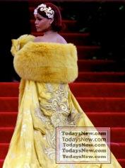RIHANNA at MET GALA 5-4-2015 John Barrett/Globe Photos 2015