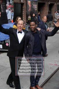 JERRY STEINFELD,CHRIS ROCK at ''Live with David Letterman Show'' Final show 5=20-2015 John Barrett/Globe Photos 2015