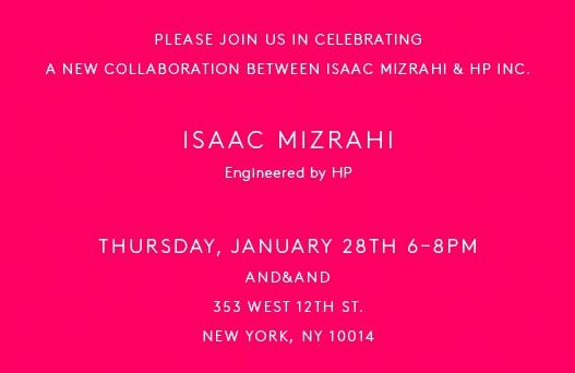 Isaac Mizrahi + HP - Launch Event - 1-28-15