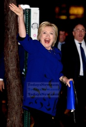 Hillary Clinton arrives at the Hillary Clinton fundraiser concert held at Radio City Music Hall in NYC. Photo by Ron Asadorian March 2, 2016