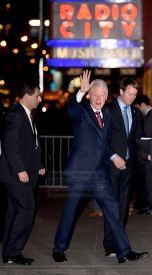 Bill Clinton arrives at the Hillary Clinton fundraiser concert held at Radio City Music Hall in NYC. Photo by Ron Asadorian March 2, 2016