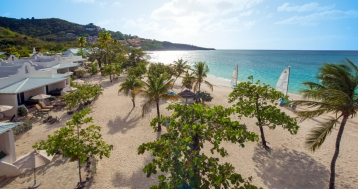 Overhead View of Seagrapes Suite and Beach - high res