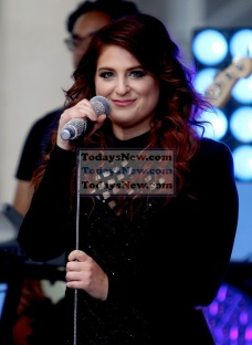Meghan Trainor on NBC ''Today Show'' Concert Series live at the Plaza