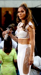 Jennifer Lopez and Lin-Manuel Miranda singing there new song on NBC ''Today'' Show at Rockefeller Plaza