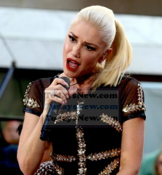 Gwen Stefani at NBC ''Today'' show concert series at Rockefeller Plaza