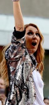 Celine Dion at NBC'' Today''Concert Series at Rockefeller Plaza