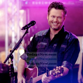 Blake Shelton at NBC ''Today'' Concert Series at Rockefeller Plaza