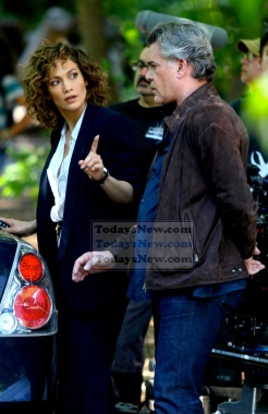 on the TV set of ''Shades of Blue'' in Brooklyn