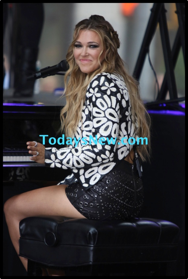 Rachel Platten performing on NBC ''Today Show'' at the Plaza