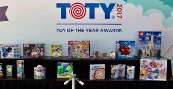 Irwin family at Toy Fair at Javits Center NY