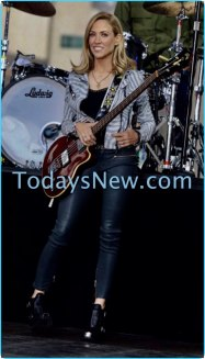 Sheryl Crow performing on NBC'' Today''Show at Rockefeller Plaza