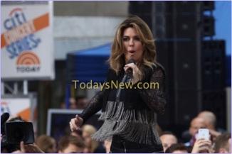 Shania Twain performing on NBC ''Today''show at rockefeller Plaza