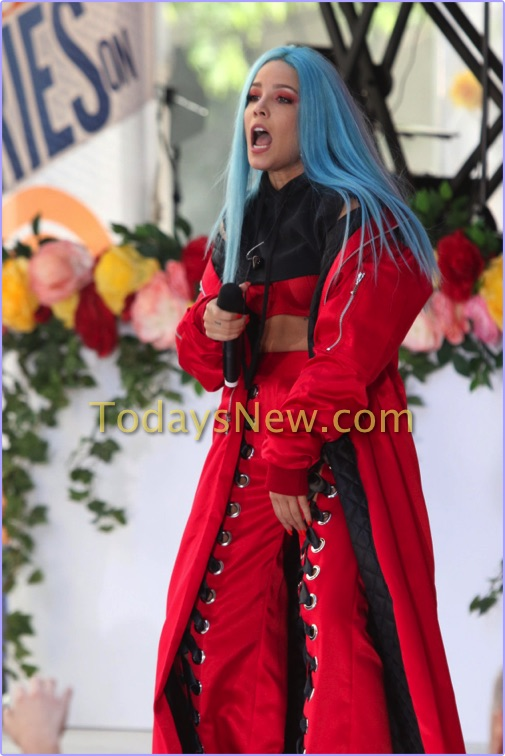 Halsey performing on NBC ''Today'' Show