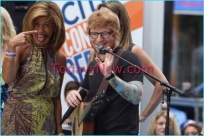 Ed Sheeran performing on the NBC ''Today'' Show at Rockefeller Plaza