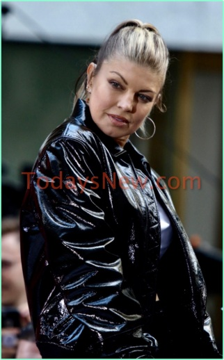 FERGIE concert on NBC ''TODAY''show at Rockefeller Plaza