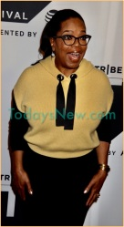 Oprah Winfrey at premiere of his new show'' Released'' at Tribeca TV Festival at Cinepollis Chelsea w.23st